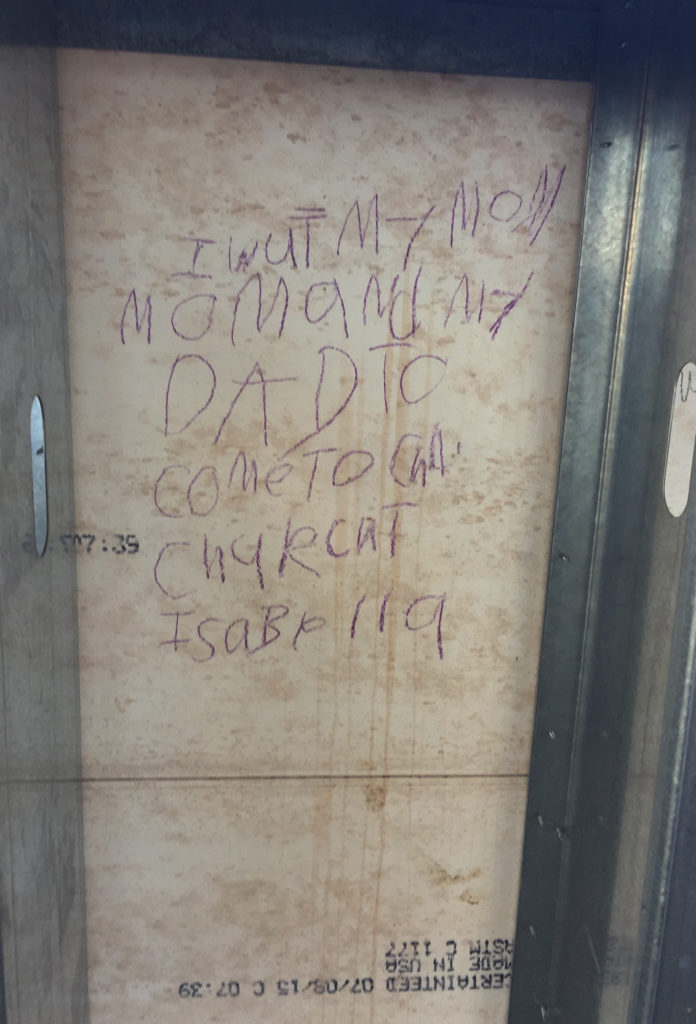 door writing