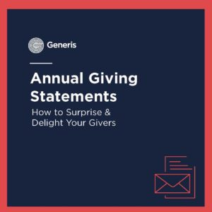 annual giving statements, how to surprise and delight your givers